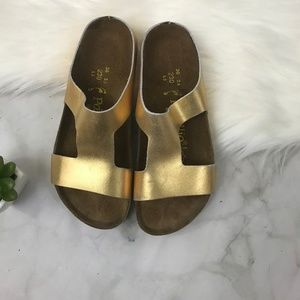 Birkenstock Papillo Pre Owned Charlize Gold Sz. 36